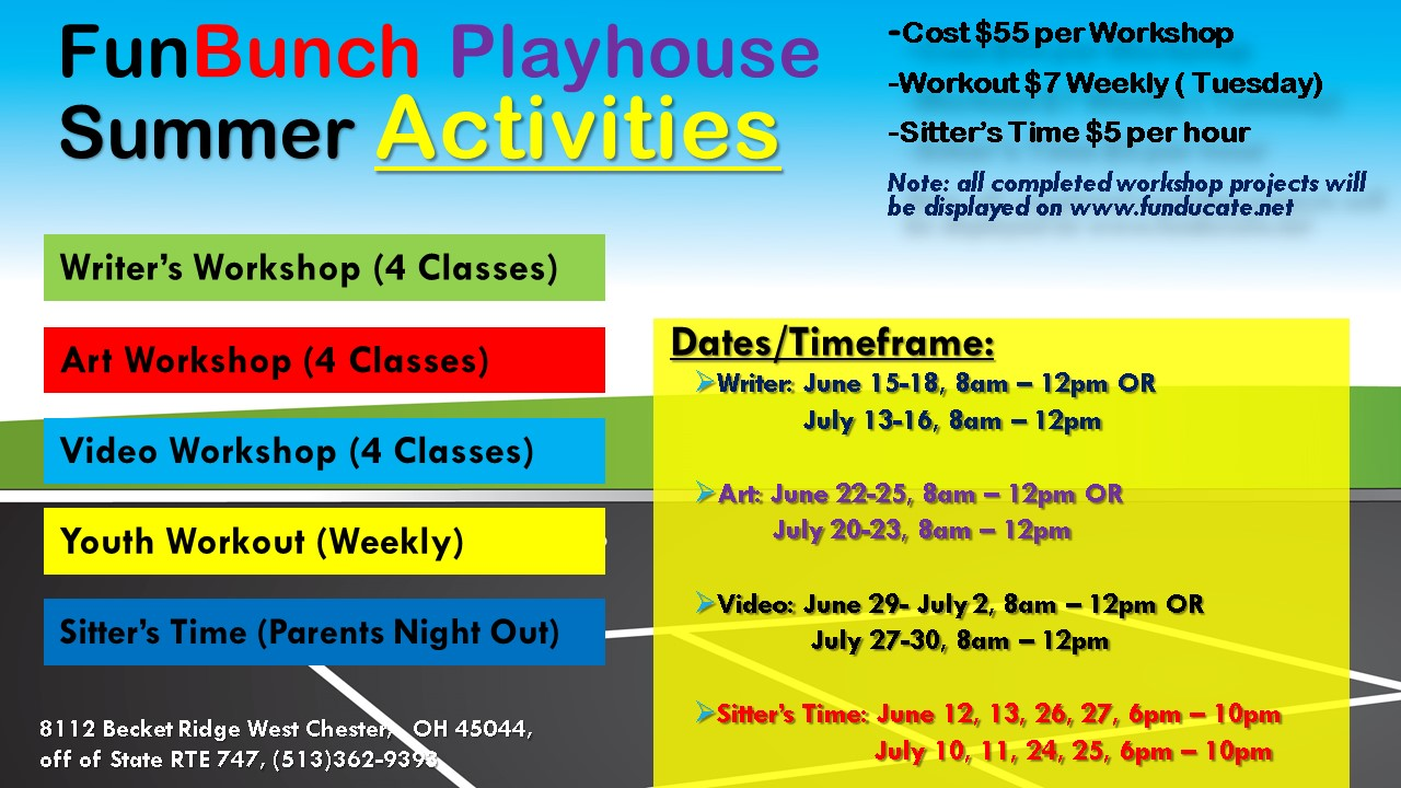 image for FunBunch Playhouse Summer Workshops
